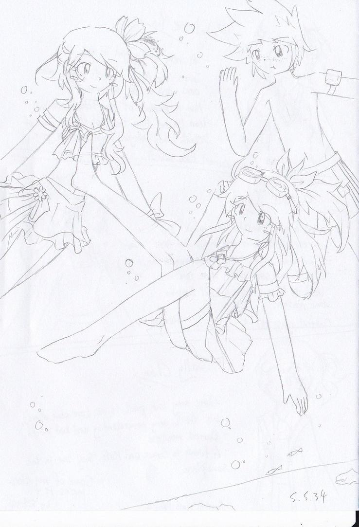 Underwater Trio by Secret-Sherry34