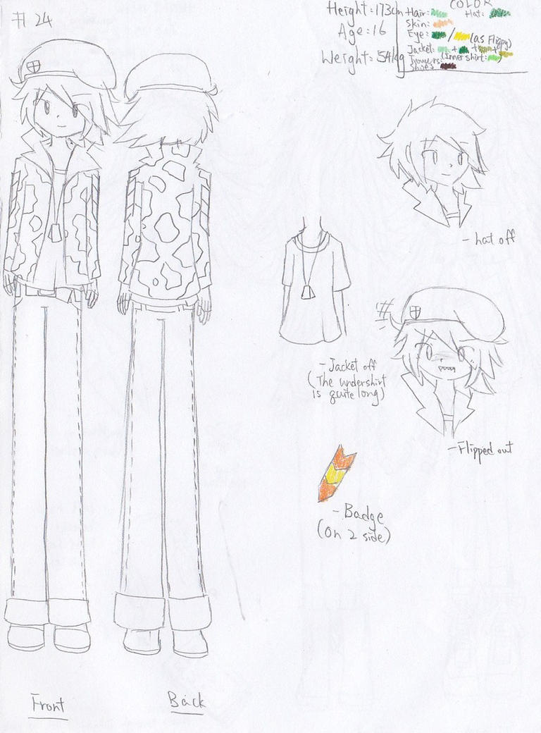 Character sheet No.24: Flippy by Secret-Sherry34