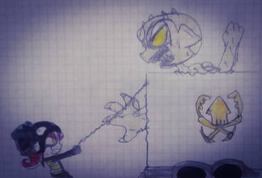 Gabriel octopus vs Elementor *sand* by guerrero3110