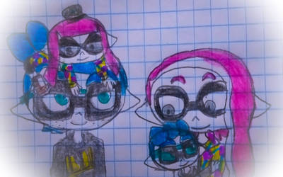 Family Picture (Gabriel b. x Gul Inkling) by guerrero3110