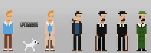 8bits Tintin and Friends