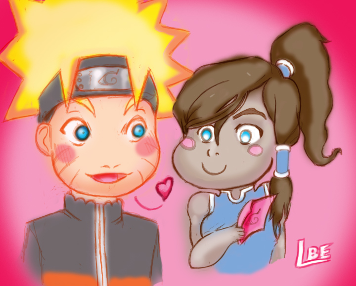 Love Letters - Naruto and Korra by Lazebe