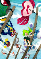 Kites N Fishes by Applewaffles