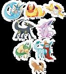 Pokemon Stickers Set 4