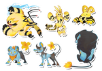 Pokemon Stickers Set 6