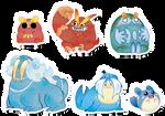 Pokemon Stickers Set 9