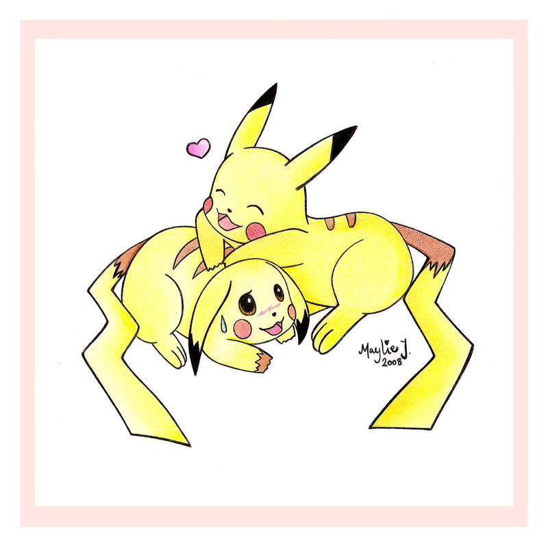 Cute Pikachu Couple by Jadesca