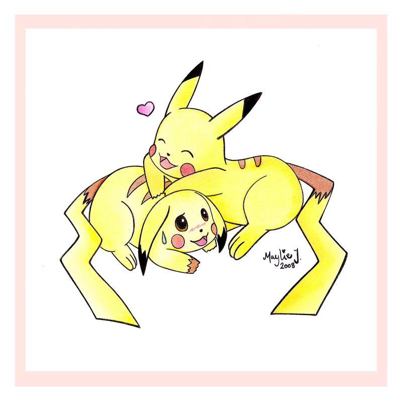 Cute Pikachu Couple by Jadesca