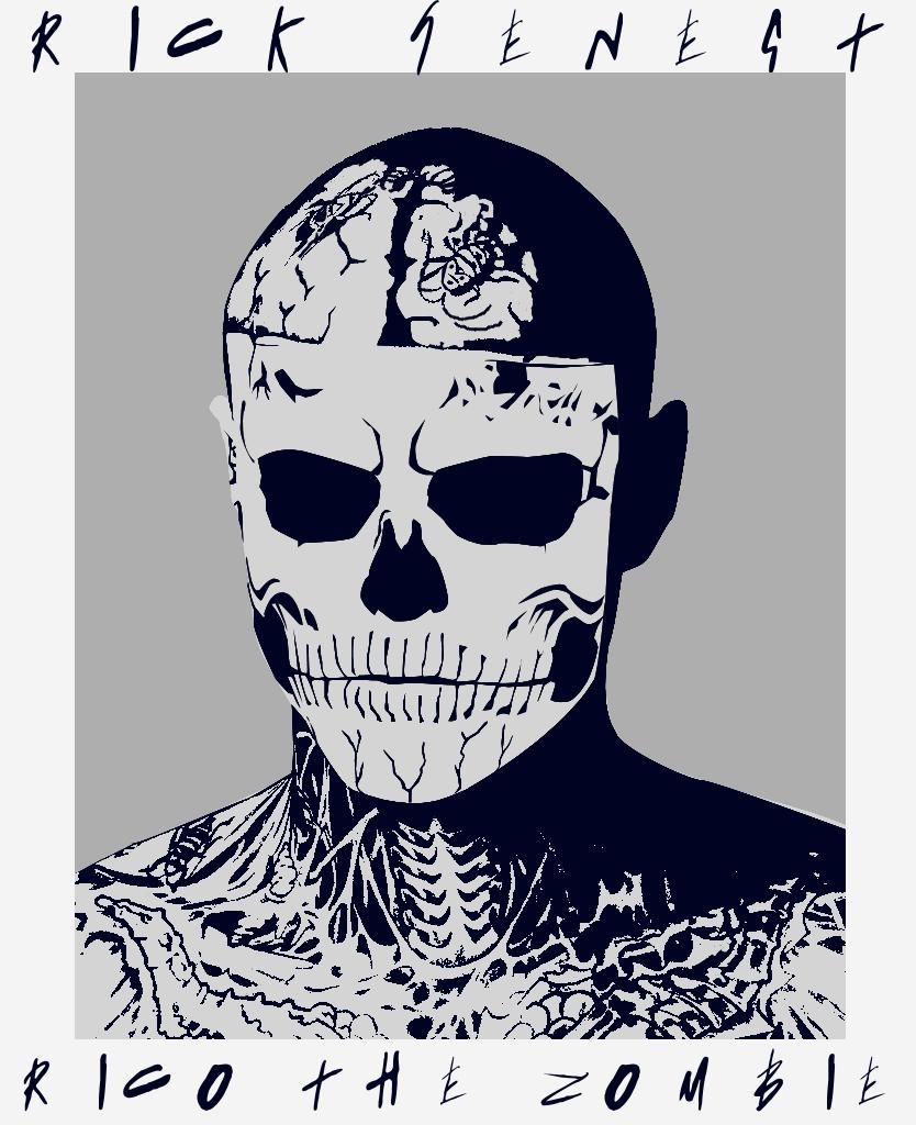 Rick Genest - Zombie Boy Vector by anoanoanoano