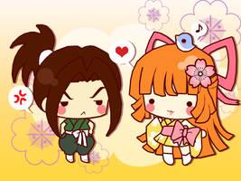 Ani and Matsu SD -fanart by Kitsune-Petit