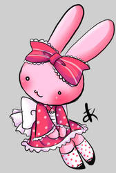 Strawberry Bunny Waloli by Kitsune-Petit