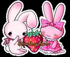 Chusagi and Strawberry Bunny by Kitsune-Petit