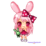 Strawberry Bunny -pixel2- by Kitsune-Petit