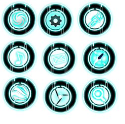 TRON Disc Icons by COBALT622