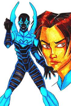 Teen Titans A-Z : Blue Beetle by kidmarvelj
