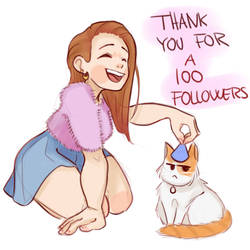 100 followers by MissHeyThere