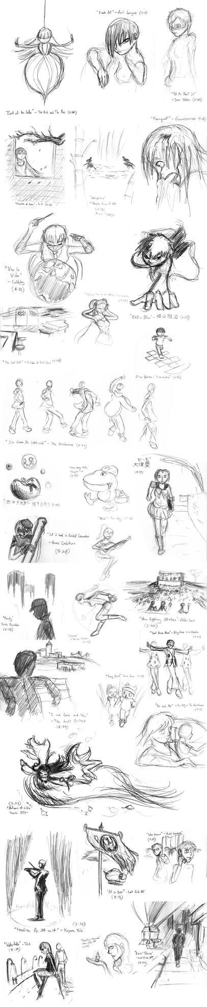 Musical Sketchdump by wandering-ronin