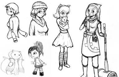 Fanart sketchdump 2013