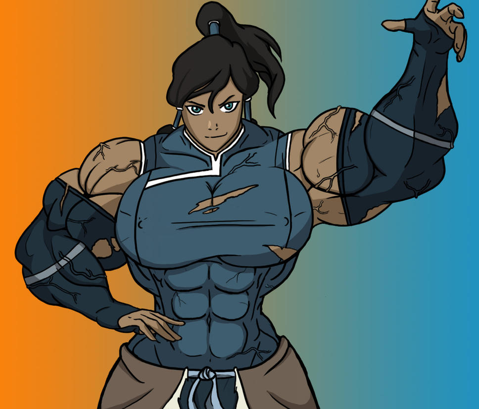 Korra the jacked Avatar by MuscularTophFan
