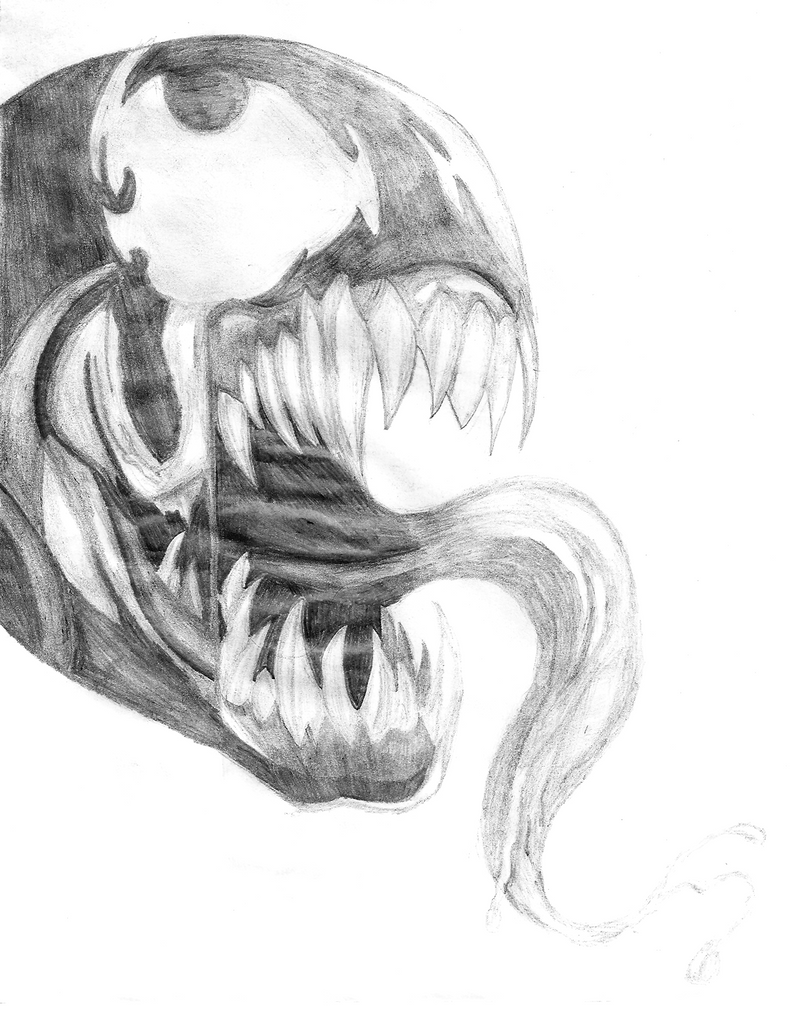 First Venom Drawing by Mootinie on DeviantArt