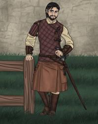 Owen Guard No Cape Kilt Rose Dawn by LasselantaNariel