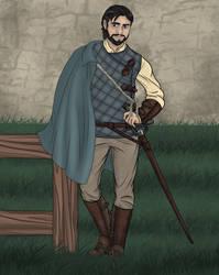 Owen Guard Cape, Trousers Dawn Mist by LasselantaNariel