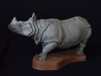 Indian Rhinoceros by revenant-99