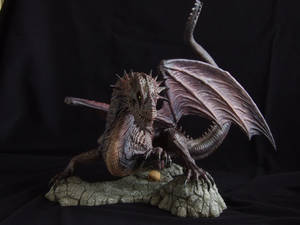 Dragon sculpt: painted