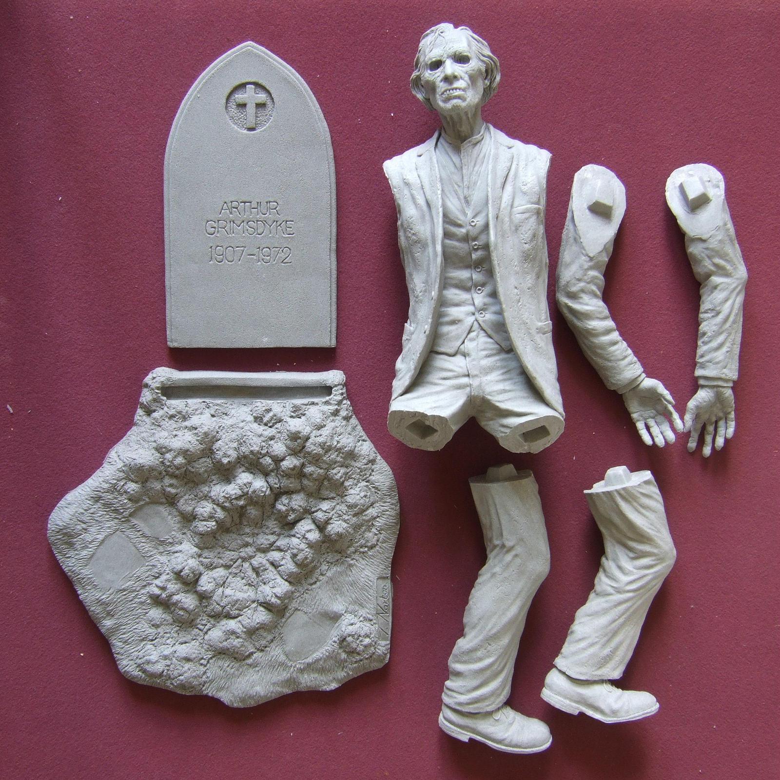 Arthur Grimsdyke sculpt- Finished resin kit by revenant-99
