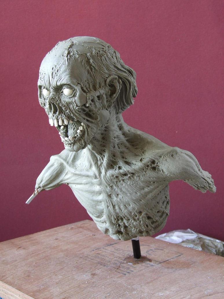 Zombie sculpt in progress by revenant-99