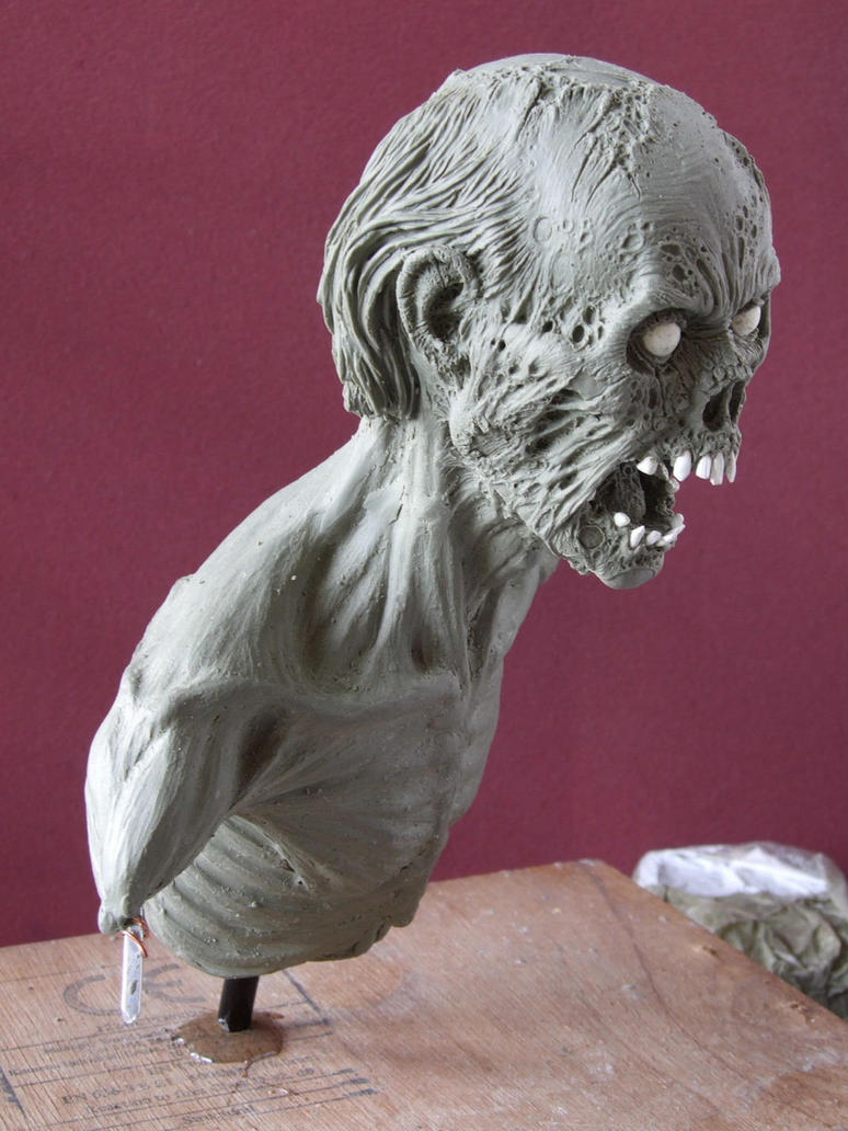 Zombie sculpt work in progress- another angle by revenant-99