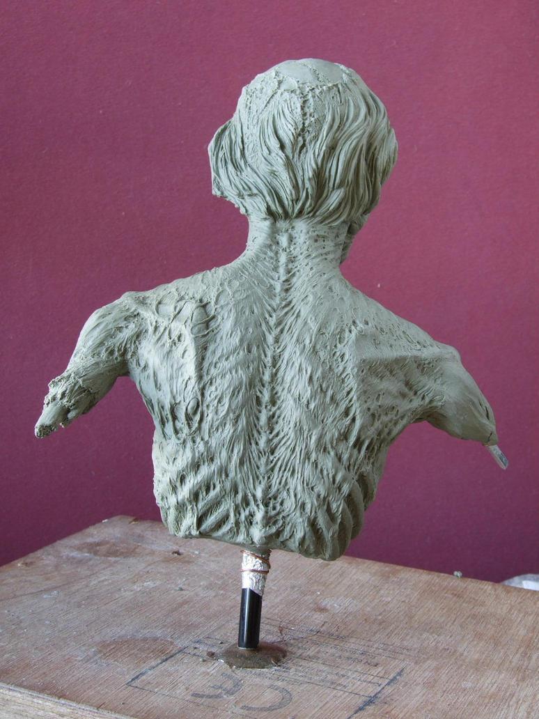 Zombie sculpt  work in progress- rear view by revenant-99