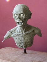 Zombie sculpt -work in progress, front view by revenant-99