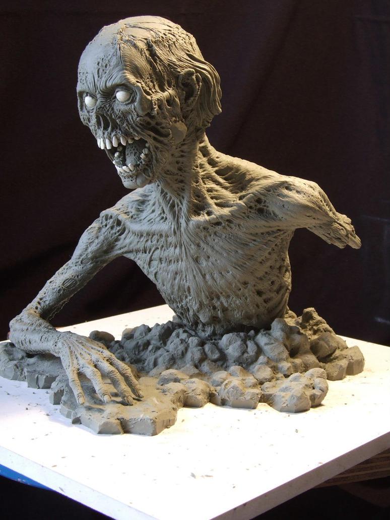 Zombie sculpt- Finished by revenant-99