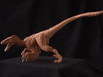 Deinonychus - prototype toy sculpt. side view by revenant-99