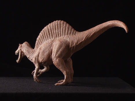 Spinosaurus - prototype toy sculpt - rear view