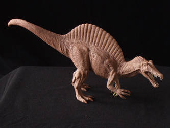 Spinosaurus - prototype toy sculpt - above view