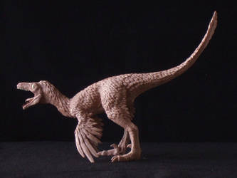 Troodon - prototype toy sculpt - alternate view