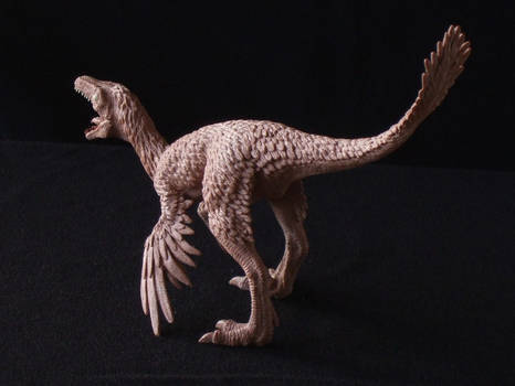 Troodon - prototype toy sculpt - rear view