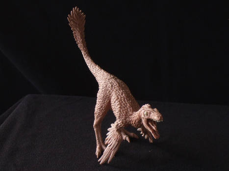 Troodon - prototype toy sculpt - front view