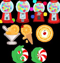 Gumball machine, Orange Sherbert, and Peppermint by Turbo740