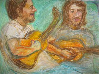 Drunk guitarists by AlexanderPeev
