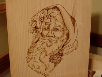 Santa Plaque WIP by IMWanderling