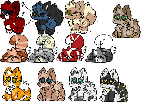 Open 20 point Fox baby adopts