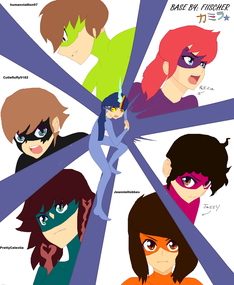 my team of superheroes by Patricia34