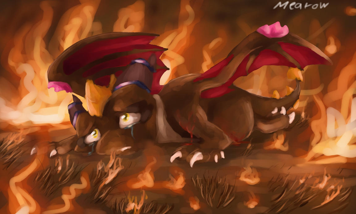 If I were a dragon ... I would look like this .. The_last_moment_by_mearow-d6dekoy