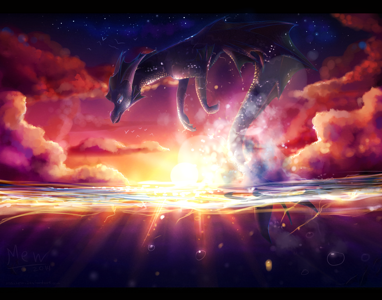 Dragon's Sunset by Dreamous on DeviantArt |Dragons And Sunsets