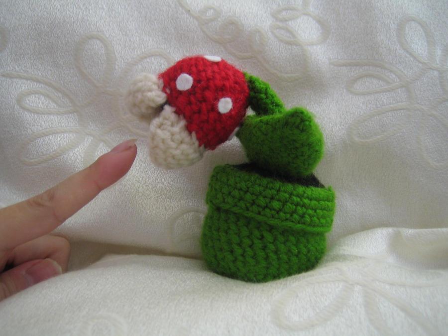 Mario plant crochet by Bokkenbol