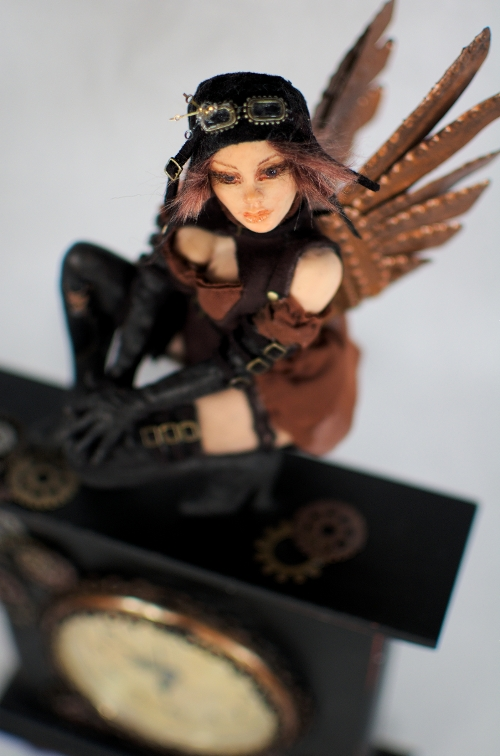 OOAK Steampunk Aviator Fae by incantostudios