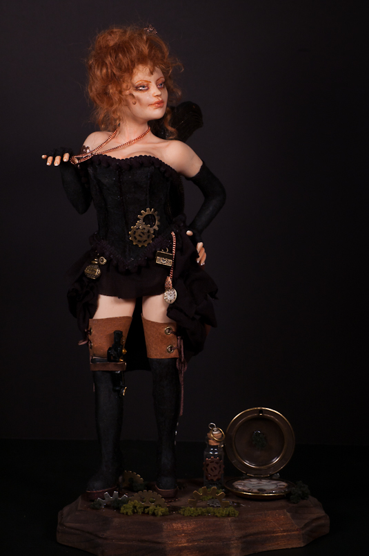 ooak Steampunk Fairy Victoria - more pics 4 by incantostudios
